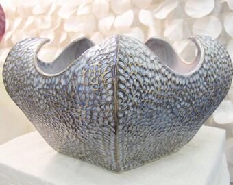 Decorative Blue Bowl, Large blue bowl, Coral Bowl