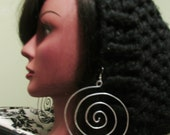 Hammered Large Spiral Earring Hoops