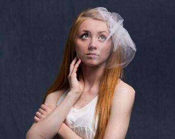 Wedding Veil or Bachelorette Veil, Birdcage Veil, Tulle Veil, Glitter Veil, Sparkle Veil