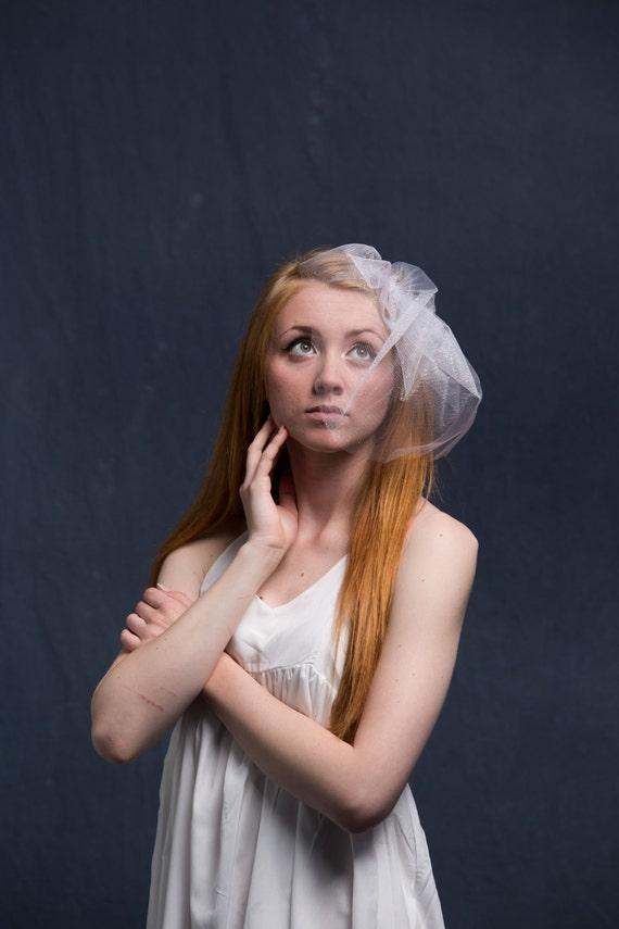 Bachelorette Veil, Wedding Veil, Sparkle, Birdcage Veil