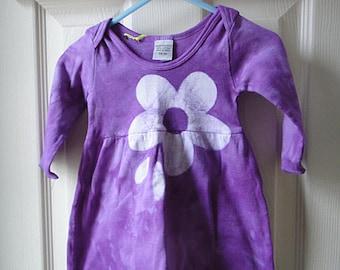 Purple Baby Dress, Purple Flower Baby Girls Dress, Flower Girls Dress, Flower Baby Dress, Baby Girl Gift (3 months)