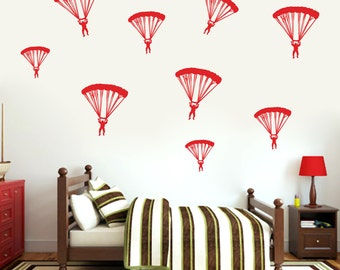 Paratroopers - Nursery and Kid's Room Wall Decals