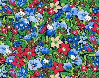 Liberty Tana Lawn Fabric , Liberty Japan Limited, Rico & Floris, Liberty Print Cotton Scrap, Kawaii Quilting, Patchwork Fabric - ntkitty92f