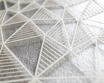 Ketubah Papercut by Jennifer Raichman - Geometric - Metallic Silver