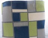 Fabric Organizer Storage Bin Container Basket  Premier Prints Hopscotch Felix Natural 16 x 16 x 12+
