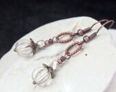 Silver Czech Glass Beads Earrings - A.1095