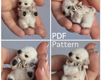 Micro miniature polar bear e-pattern PATTERN PDF Mandie by Tatiana Scalozub