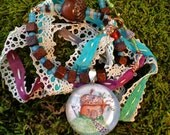 Acorn Fairy Home Necklace/ Ribbon and Beads
