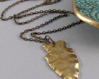 Indian Spirit,Necklace,Antiqued Brass,Brass Arrowhead,Arrowhead,Bohemain Necklace,Arrowhead Necklace,Bohemian Jewelry,Gypsyvalleygirldesigns