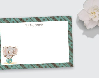 Notecard Set / Stationery for Children - Personalized - Printable File