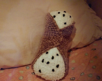 Cannoli Pillow - Pastry Food Pillow - Dessert Pillow - Neck Roll