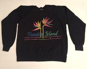 Paradise Island crew neck sweatshirt