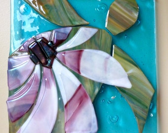 Sea She Turtle Wall Art Shelly Batha Hawaii Island Fused Glass