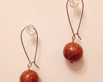 Handmade polymer clay earrings. Серьги ручной работы из полимерной глины