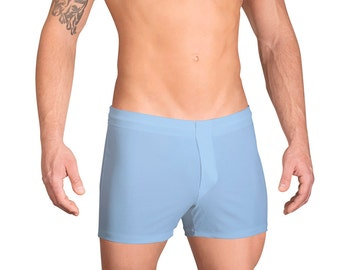 Men's Swim Boxers in 18 Solid Colors by Vuthy Sim