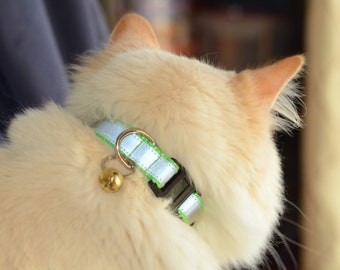 Reflective Breakaway CAT Collar - over 25 colors - MADE to ORDER