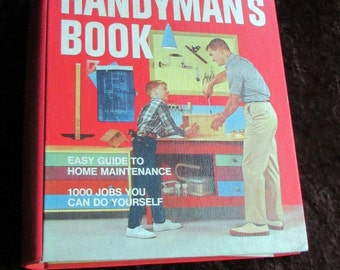1970s Handyman's Book. Better Homes and Gardens. Classic Red Cover. Many Photos & Diagrams. Vintage Binder Style Home Repair Book
