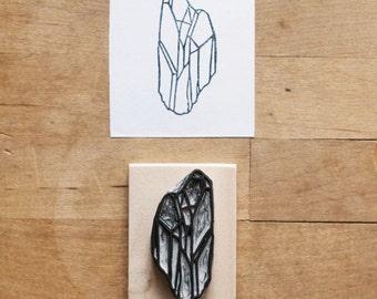 Raw Quartz No. 4 - Rubber Stamp Hand Carved