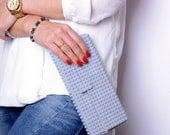 Light grey clutch made entirely of LEGO bricks FREE SHIPPING