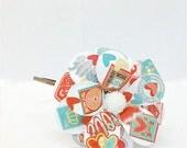 Love Letters Daisy Paper Mache Headband