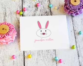 Easter Bunny Personalized Easter Note Cards