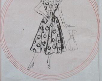 Leach Way 1950's Tea Dress Pattern 12583