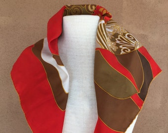 Le Roi - Fire engine red silk scarf