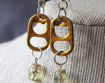 Reclaimed Soda Can Tab Earrings