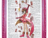vintage dictionary art print 7.75x10.75 inches - cardcaptor sakura print dictionary page prints on dictionary paper