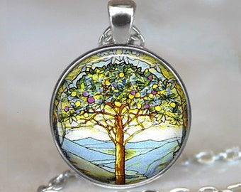 Tiffany Tree of Life pendant tree of life necklace Easter pendant Easter necklace Tiffany stained glass keychain key chain