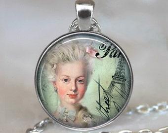 Marie Antoinette pendant, Marie Antoinette necklace, Marie Antoinette jewelry, French jewelry, French necklace keychain key chain