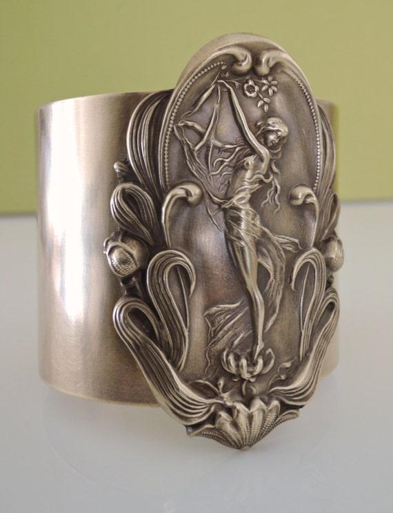 Vintage Bracelet - Art Nouveau Bracelet - Vintage Cuff - Statement Bracelet - Vintage Brass Jewelry - handmade
