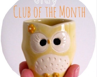 CLAY - Club of the month Subscription - Snail mail love delivered monthly -  ceramic goodies