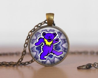 The Grateful Dead  Bear Jewelry Pendant