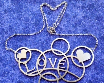 Love and Hearts Bubbles - Necklace or Pendant