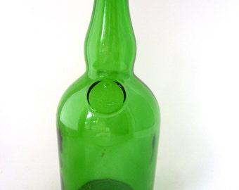Vintage Green Glass Whiskey Bottle Continental Distilling Liquor Whiskey Collectible Glass Bottle Pennsylvania Distillery Long Neck Bottle