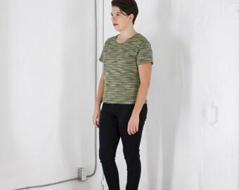 ON SALE Vintage Short Sleeve Metallic TShirt for Ladies