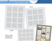 Storyboard Templates (Combo 4)  Photoshop files for Photographers