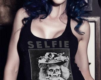 Selfie Worship (American Narcissism) Racerback Tank