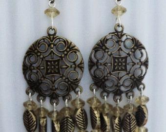 Boho Earrings, Bohemian Earrings, Chandelier Earrings, Bohemian Jewelry, Gypsy Earrings, Gypsy Jewelry, Shabby Chic Earrings