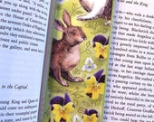Rabbits and Flowers Laminated Bookmark