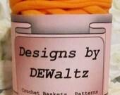 Dreamsicle Orange Jersey Tee Shirt Trapillo Yarn from Designs by DEwaltz