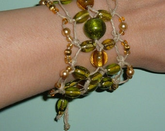 Hemp Bracelet GoldenTemple