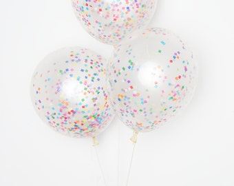 "Confetti Balloons / 11"" Tiny Rainbow DIY Set of 12"