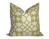 Pelagos Pillow Cover -20 inch - Lime - Citron - Chartreuse - Decorative Pillow - Lattice Pillow - Designer Pillow