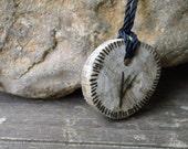 Viking Oak Fehu Rune Talisman