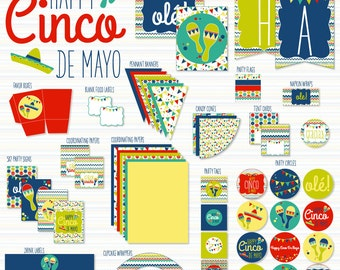 Cinco De Mayo Printable Party (INSTANT DOWNLOAD) by Love The Day