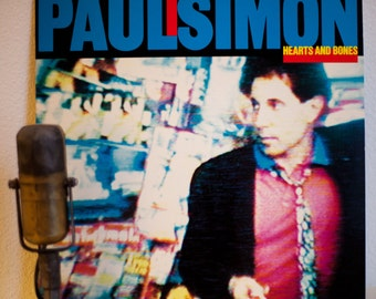 """Paul Simon Vinyl Record Lp album Vintage 1980s Pop Rock Music Relationships Feelings """"Hearts and Bones""""(1983 Wb records w/""""Think Too Much"""")"""