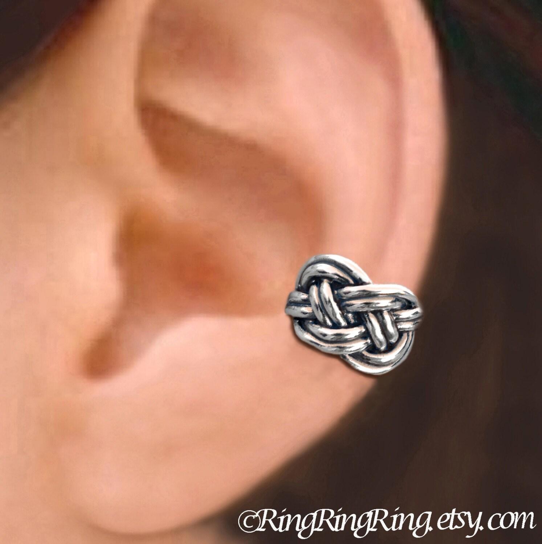 irish celtic knot ear cuff sterling silver by ringringring. Black Bedroom Furniture Sets. Home Design Ideas