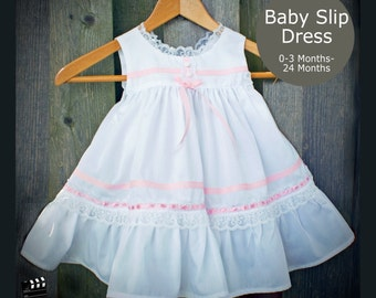 PDF Sewing Pattern Baby Slip Dress with Bloomers 0-3 Months to 24 Months